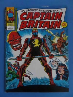 Captain Britain 27 1977 Uk Marvel Classic Cover!