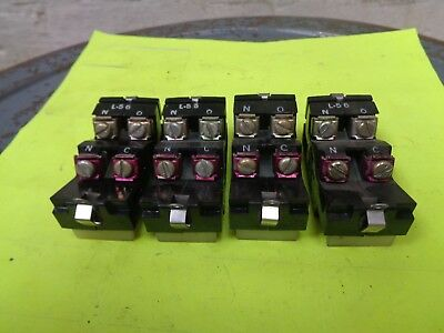 (Lot of 4) Westinghouse L56 L-56 N0-NC Auxiliary Contact Block Blocks