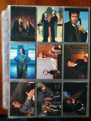 X-files Season Two Trading Cards  1996.  Full set X 72  1996 Mulder and Scully