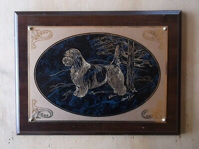 PBGV- Beautifully Hand Engraved Wall Plaque by Ingrid Jonsson.