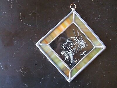 Flat Coated Retriever-  Hand engraved  Ornament by Ingrid Jonsson.