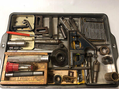 MACHINIST South Bend Atlas LATHE MILL Lot Gages Transfer Screws Cuuters Gear Etc