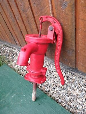 OLD Cast Iron Hand WATER PUMP in GREAT Condition Signed 1938 BEATTY