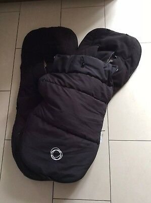 Bugaboo Universal Footmuffs Black For Twins Or Siblings Free Uk Postage