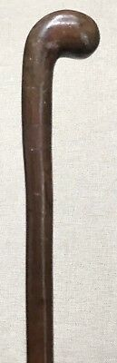 Vintage Antique 1800' Knob Swagger Fighting Walking Stick Cane Knobby Shaft Old