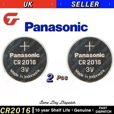 2x Panasonic CR2016 3V Lithium Coin Cell Battery 2016 Fast Delivery