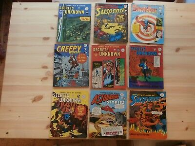 *AR*  Lot of 9 Alan Class Sinister Tales Suspense Creepy Worlds 6p-15p copies