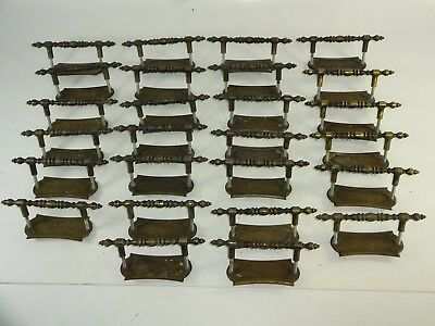 VTG Lot of 26 Pcs Allison Hardware Japan #463 Cabinet Drawer Pulls w/ Back Plate