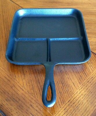 Vintage Cast Iron Lodge Square Breakfast Skillet 8 BE Made in USA H Porcelain
