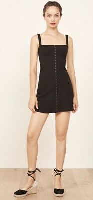 06401be893d8 NWT REFORMATION NELLIE Mini Dress Black Size Small $98.00 Sold Out ...