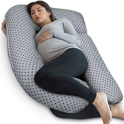 PharMeDoc U-Shaped Pregnancy Pillow + Travel Bag - Full Body Maternity Pillow