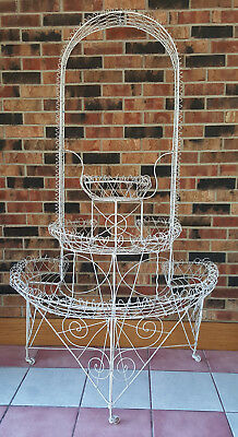 Antique Victorian Wire Plant Stand-- Very Nice
