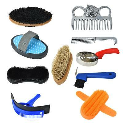 10 PCS/ Set Horse Cleaning Grooming Supplies With Brush and Washable Backpack