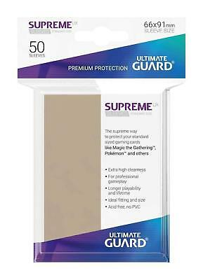 50 Ultimate Guard Supreme Ux Standard Size Sleeves - Sand