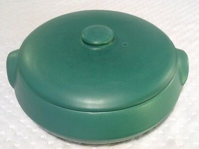 1927-37 Catalina Island Pottery LARGE Casserole / Serving Dish Descanso Green