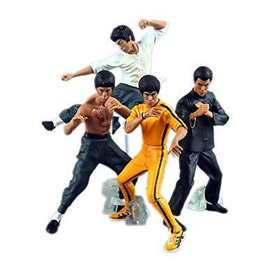 Cool Bruce Lee Kung Fu PVC Action Figures Collection Toys 4pcs/set New in Box