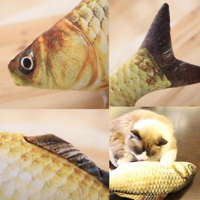 Funny Pet Kitten Cat Fish Shape Mint Grass Chewing Play Catnip Scratch Toy MJ