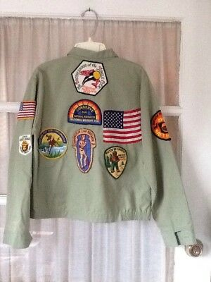 Vtg Collectible Patches Coonskin Brigade 1964, Prevent Forest Fires Smokey Bear