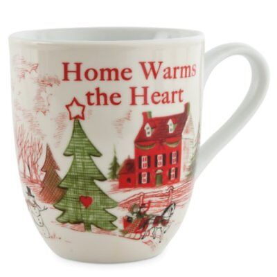Home Warms The Heart Collection, Holiday Mug, Home Warms The Heart