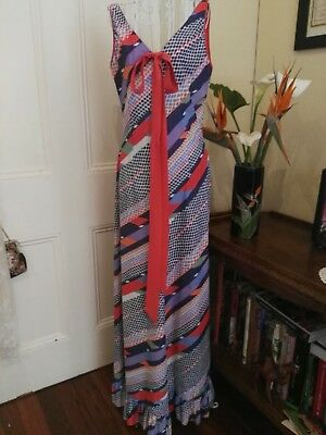VINTAGE 1970's MAXI DRESS BY OSTI DOWNTOWN COLLECTION