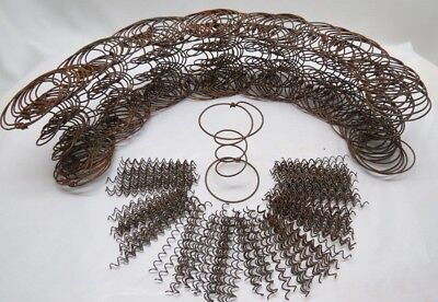 Lot of 70~Rusty Hour Glass Bed Springs+140 Curly Springs~Wreaths Country Crafts