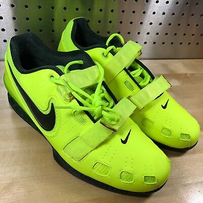 new styles 1c3cb a6c20 ... new mens nike romaleos 2 weightlifting shoes volt black sz 12 5 insoles  ...