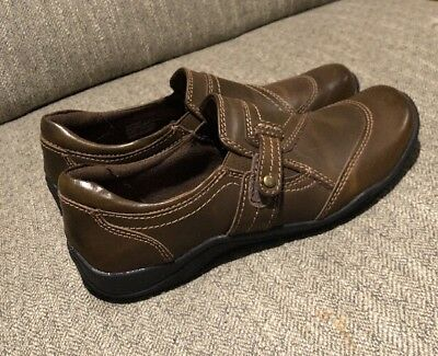 New Women's Brown Earth Origins Alice Loafers Leather Casual Shoes, Size 7 M