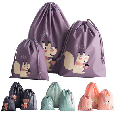 Portable Waterproof Drawstring Travel Pouch Tote Storage Bag Dustproof Case#T