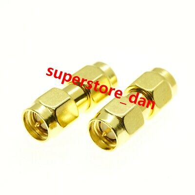 2/5/10Pcs SMA Male To SMA Male Plug Lot RF Connector Coupler Straight Adapter