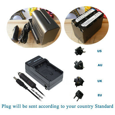 Battery 6600mAH  / Home&Car Charger for Sony NPF950 NP-F960 NP-F970 NP-F990 PRO
