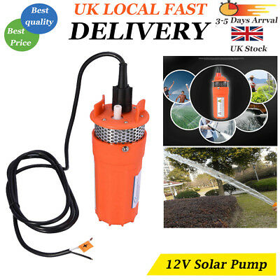 Submersible Deep Well Water Pump Solar Battery for Pond Garden Watering DC12V