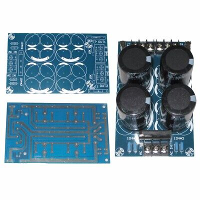 Dual Power Rectifier Filter Power Supply Board Parallel Output for Amplifier DIY
