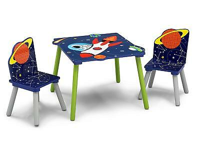 Delta Alfie the Astronaut Table and Chairs Set, Kids Activity Table & 2 Chairs