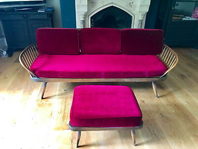 Ercol Sofa / Day Bed with Foot Stool