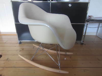Vitra/Eames RAR Fiberglas Armchair/Rocking Chair/Rocker/Schaukel-Stuhl Vollpolst
