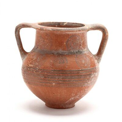 Authentic Antiquity Cypro-Archaic Footed Amphoriskos circa 700-650 B.C.