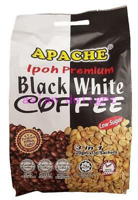 Apache Ipoh Premium Low Sugar Black White Coffee (20 g x 30 sachets)