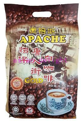 Apache Ipoh Petaling Street 3 in 1 Instant White Coffee Gold (40 g x 15 sticks)