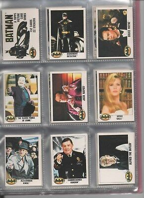 Topps BATMAN film 1989 complete main set in nine card pages