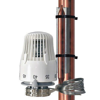 Thermostatic head with remote capillary M30x1,5mm distributor underfloorheating