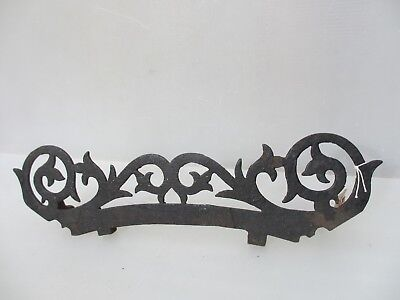 Victorian Iron Fireside Trivet Stand Kettle Pan Holder Antique Rack Shelf Mount