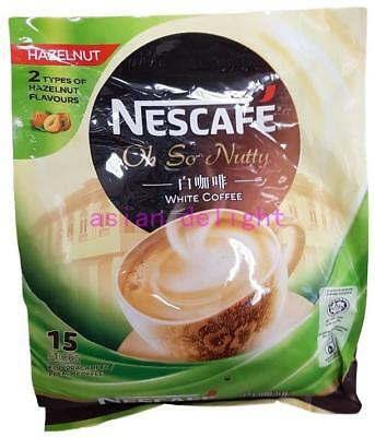 NESCAFE White Coffee Hazelnut Premix Instant White Coffee ( 36g x15 sticks )