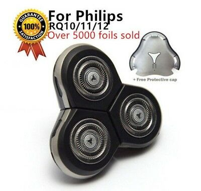 New Design Philips Replacement RQ10RQ11RQ12 SensoTouch 3D Heads Foils Free Cap