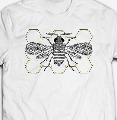 RETRO VINTAGE BUMBLE BEE INSECT NATURE ANIMAL WILDLIFE 100% cotton T-shirt Tee