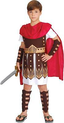 Child Roman Centurion Gladiator Army Soldier Boys Fancy Dress Costume Ages 5-13