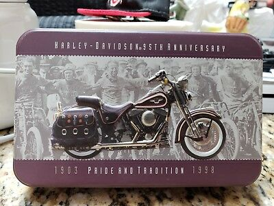 Harley-Davidson 95th Anniversary Limited Edition Collector Playing Cards W/Tin
