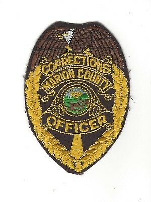 Marion County IN Indiana CORRECTIONS OFFICER badge-style patch - NEW!