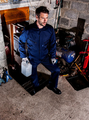 Portwest Liverpool Zipper Coverall - C813 with front snap closure & 2 way zipper