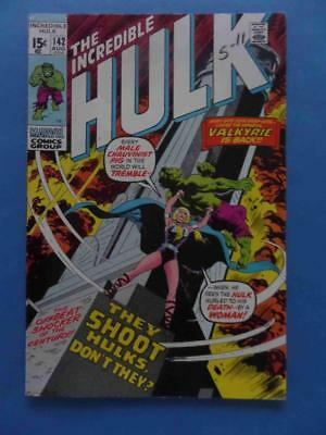 Incredible Hulk 142 1971 Classic 1St Valkyrie! High Grade!