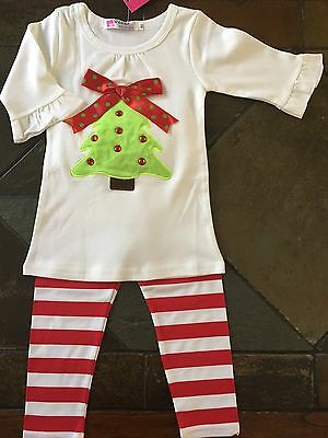 71f5c39764aaa Christmas outfit size 18 24 months girls 80 boutique NWT leggings tree New  2 pc
